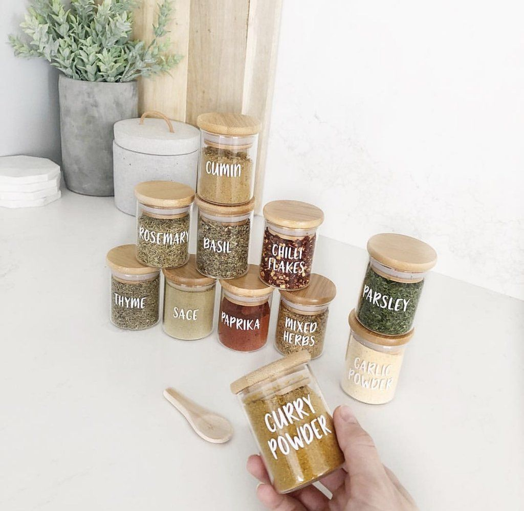 Herb & Spice Jars Small 75ml | Non-Toxic Living in 2019 ...