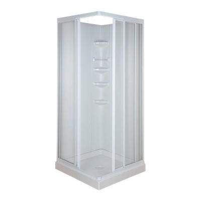 32 in. x 32 in. x 70-3/4 in. Standard Fit Corner Shower Kit ...