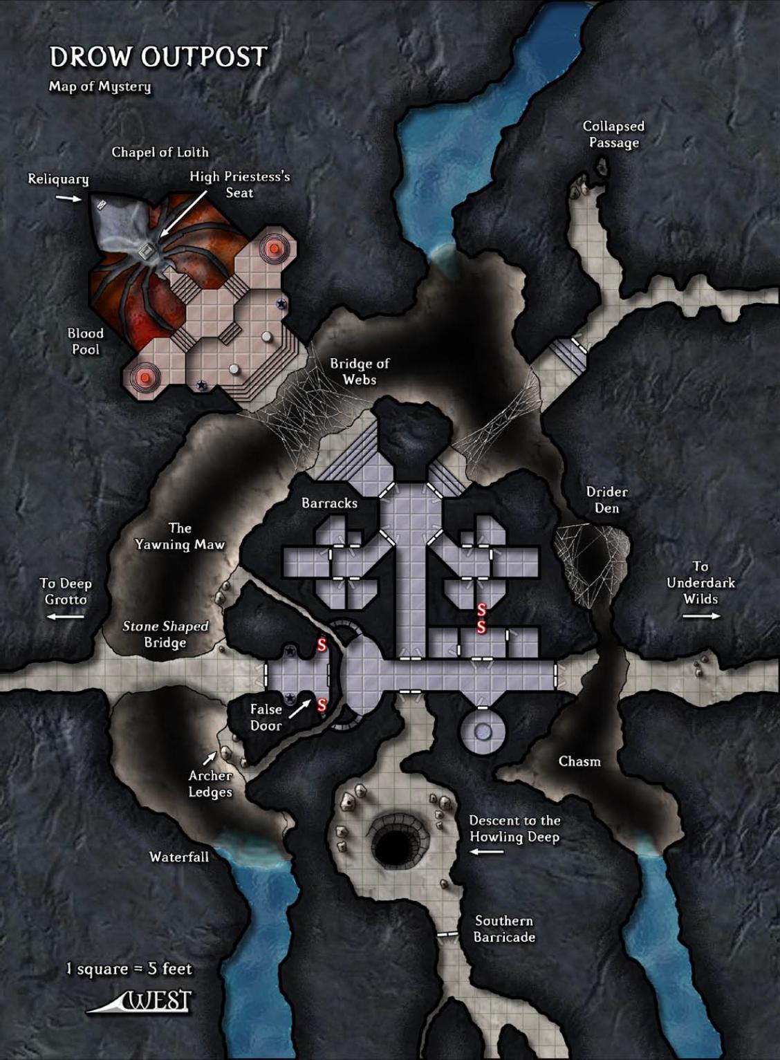 Underdark Map : underdark, Outpost, Underdark, River, Fantasy, World, Dungeons, Dragons, Homebrew
