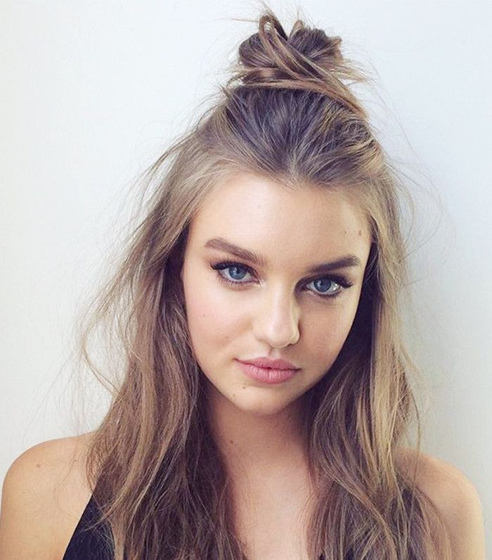 10 Hairstyles To Ensure You Never Have A Bad Hair Day Again Easy Hairstyles Medium Hair Styles Half Bun Hairstyles