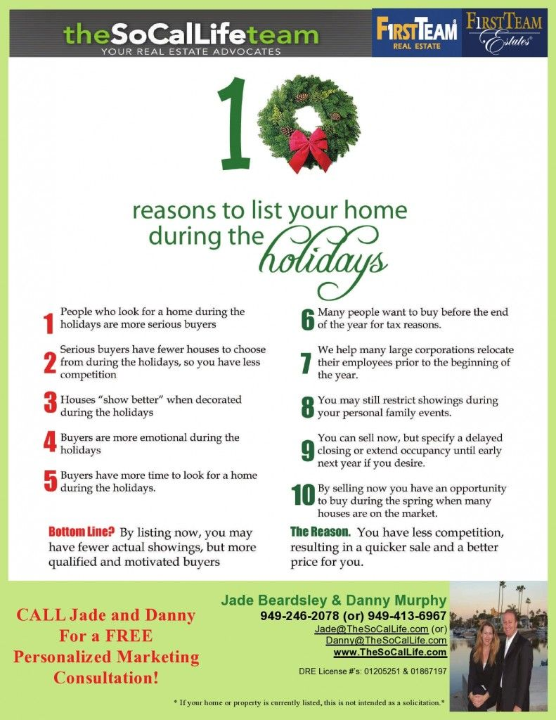 Reasons To Sell Your Home During The Holidays Home Selling Tips Selling House Things To Sell