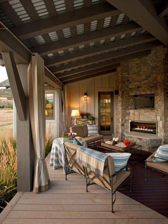 Traumhafte designer terrasse romantisches ambiente in for Gartengestaltung vintage