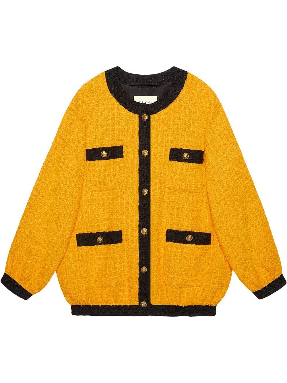 Gucci Oversize Tweed Bomber Jacket Farfetch Bomber Jacket Fashion Bomber Jacket Jackets [ 1334 x 1000 Pixel ]