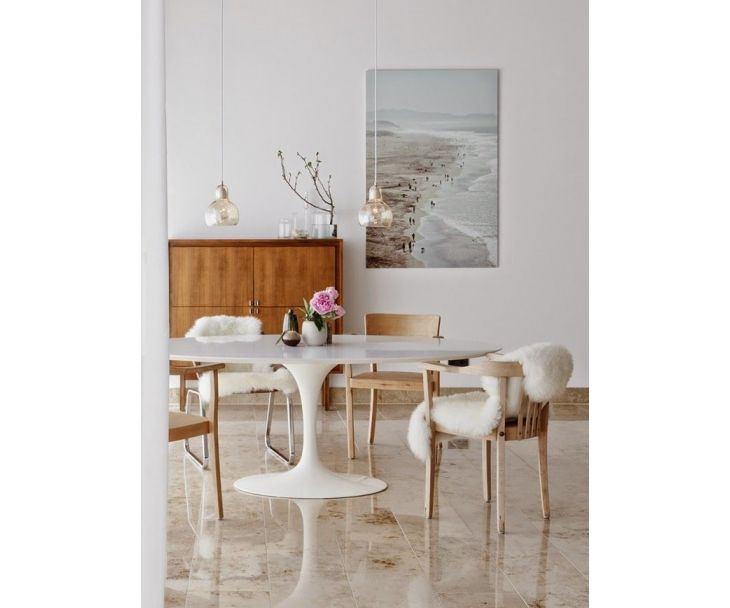 Oval Tulip Table Lacquer Eero Saarinen Reproduction Dining Room Inspiration Modern Dining Room Oval Table Dining