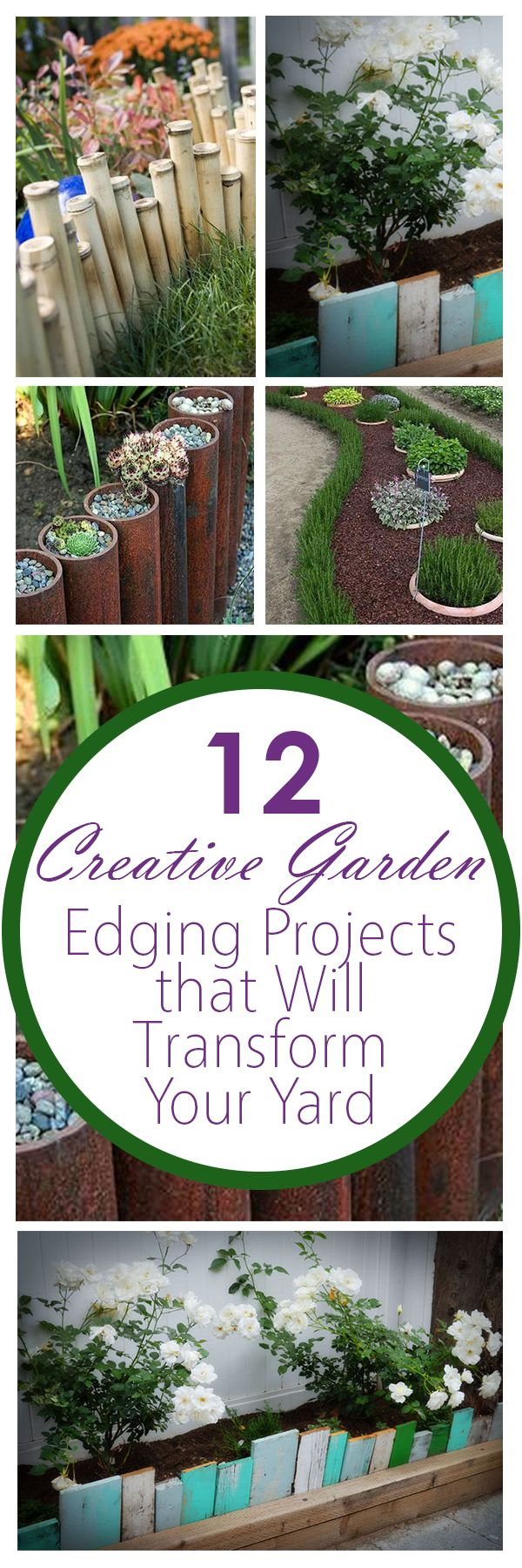 12 Creative Garden Edging Projects that Will Transform Your Yard ...
