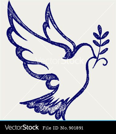 Hopedove Holy Spirit Dove Symbol Dove Symbol Vectorg Hope