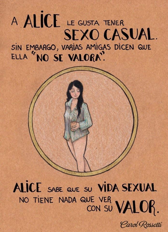 ¨A Alice le gusta tener sexo casual. Sin embargo, varias amigas dicen que ella ¨no se valora¨. Alice sabe que su vida sexual no tiene nada que ver con su valor¨
