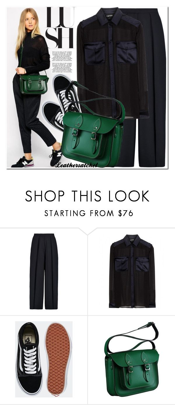 """Leathersatchel"" by leathersatchel ❤ liked on Polyvore featuring Iris & Ink, Tom Ford and Vans"