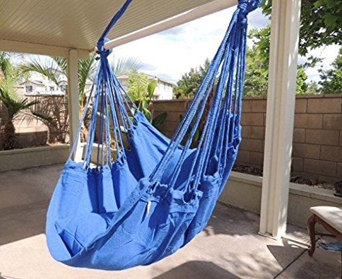 Hammock Chair Hanging Rope Chair Porch Swing Outdoor Chairs Lounge Camp Seat At Patio Lawn Garden Back Hanging Chair Outdoor Lounge Chair Outdoor Hammock Chair