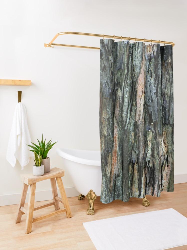 Old Eucalyptus Tree Bark Texture Shower Curtain By Anna Lemos