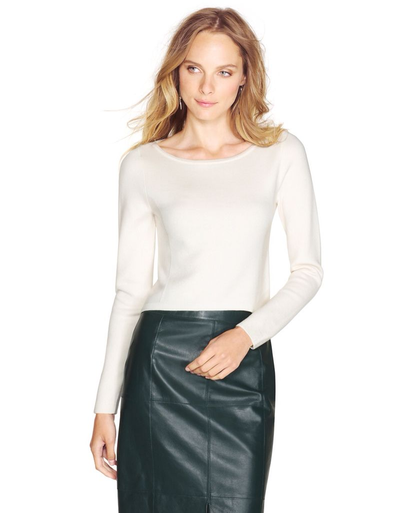 WHBM Long Sleeve Crop Pullover $78