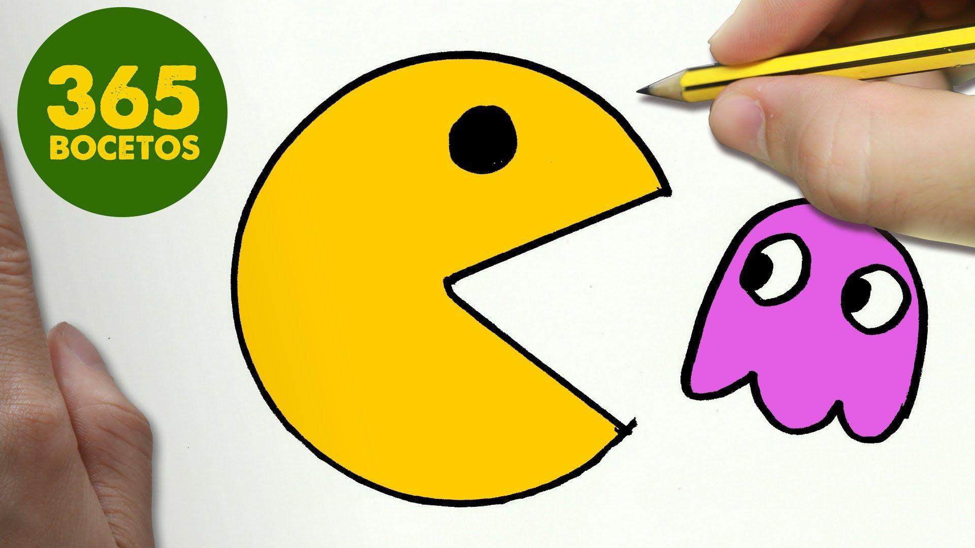 COMO DIBUJAR UN PAC-MAN KAWAII PASO A PASO - Dibujos kawaii faciles ...
