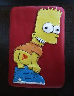Purppurahelmen juhla- ja  fantasiakakut: Bart Simpson
