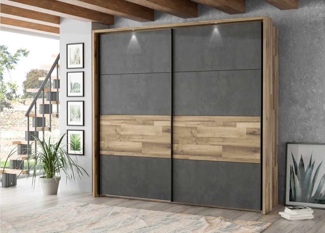 Armoire 2 Portes Coulissantes Ricciano Pas Cher Armoire But Wardrobe Design Bedroom Sliding Wardrobe Designs Bed Furniture Design