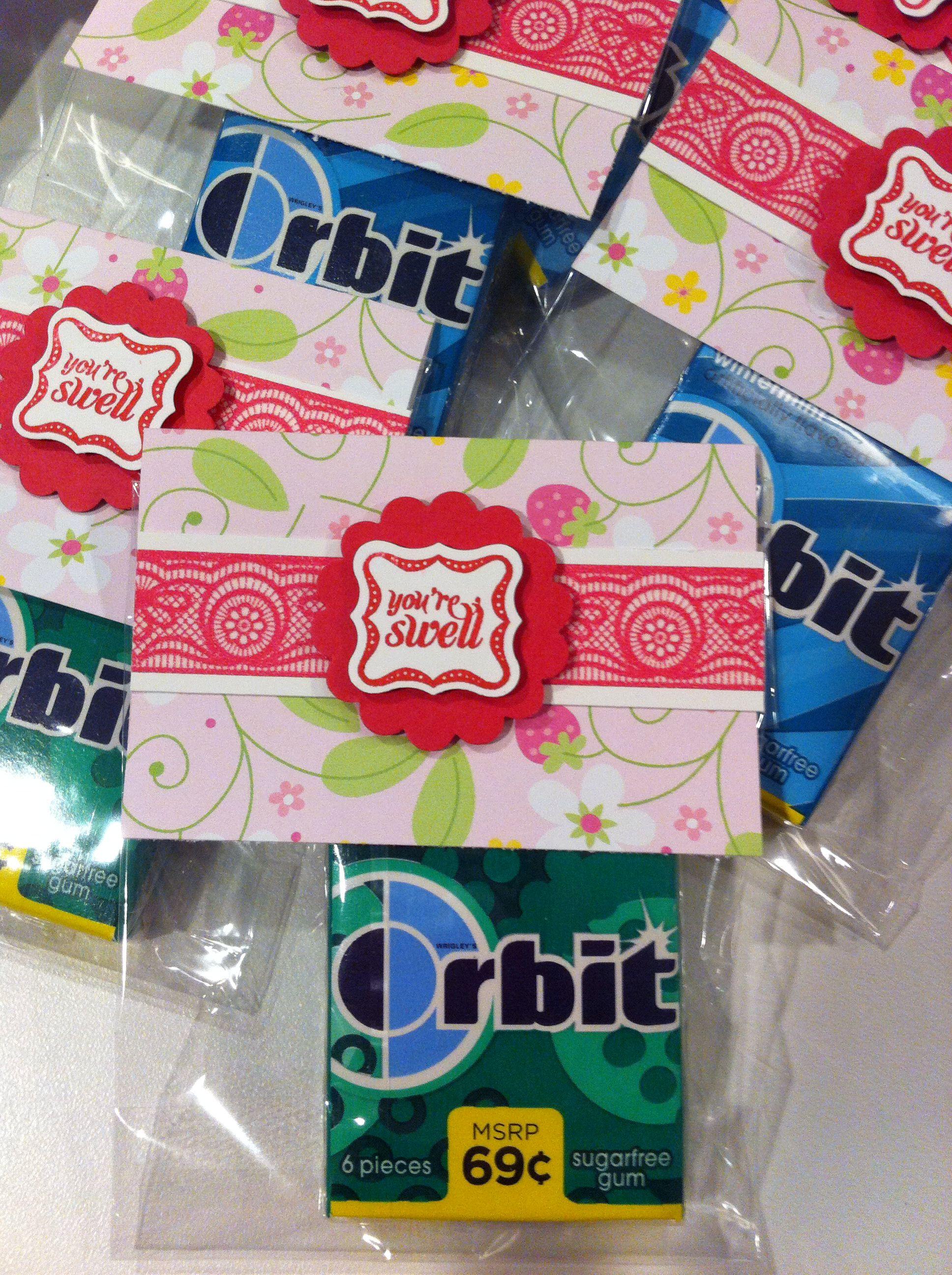You\'re swell favors - mini gum packs | Favors & Invites | Pinterest ...