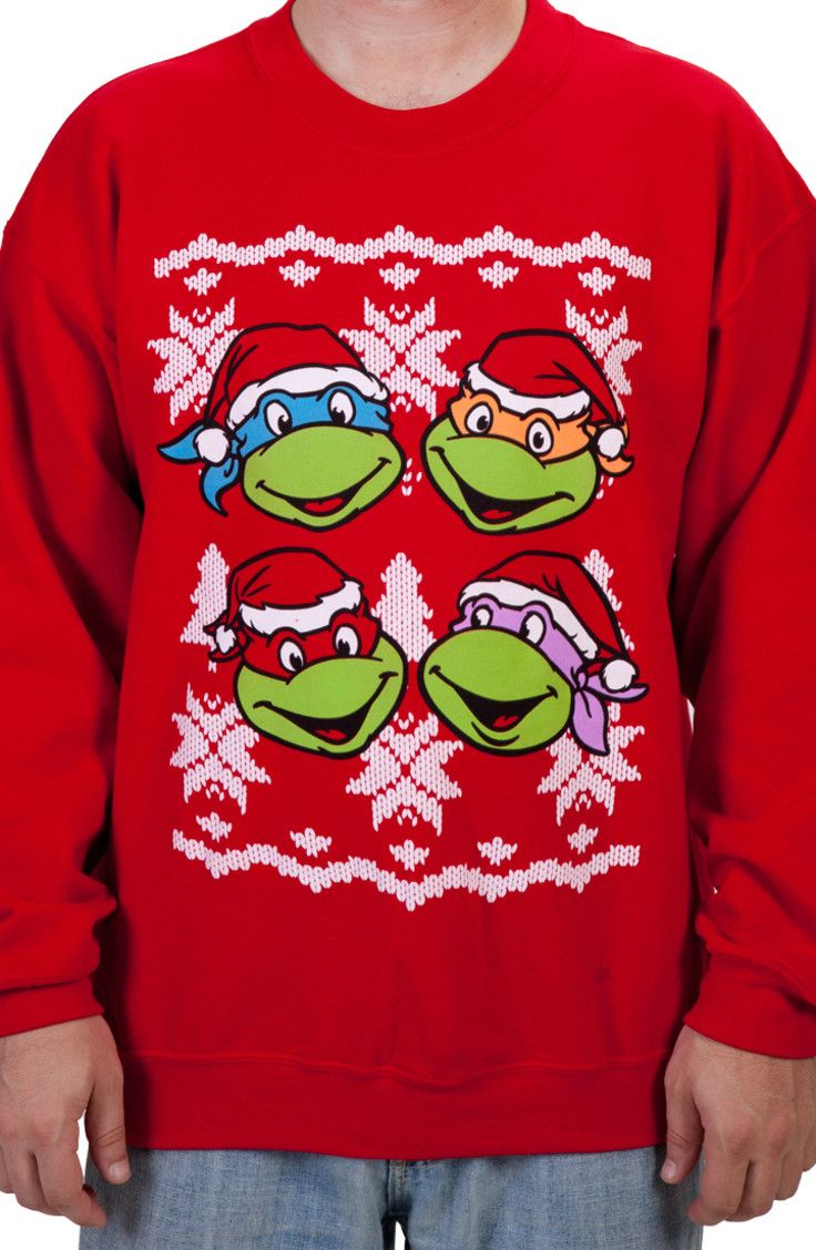 Faces Ninja Turtles Faux Christmas Sweater | Clothes- Lil Man ...