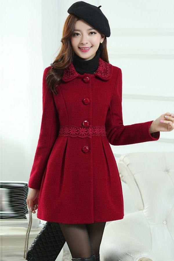 como comprar Precio de fábrica 2019 el más baratas Feminine Solid Wool Coat - OASAP.com #abrigos | GALETZA ...