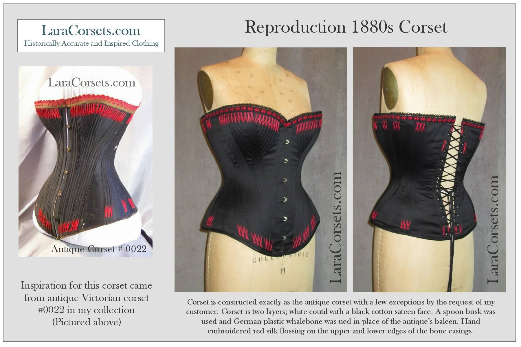 Reproduction 1880s-1890s corset  by LaraCorsets