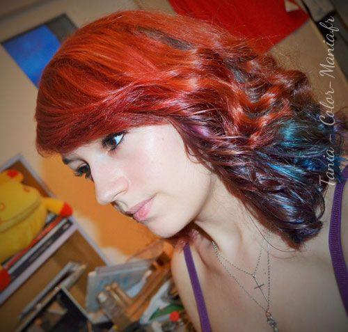 Couleur de cheveux rouge et