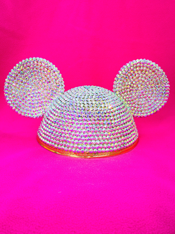 Disney wedding ears bedazzled Minnie ears Disney bride Swarovski ...