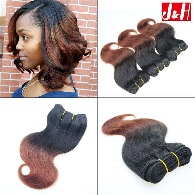 6pcs 300g brazilian ombre short hair extensions 8inch 1b33 body cheap hair weaves buy directly from china brazilian ombre short hair extensions body wave human hair 2016 trendy bob hairstyles for african women pmusecretfo Choice Image