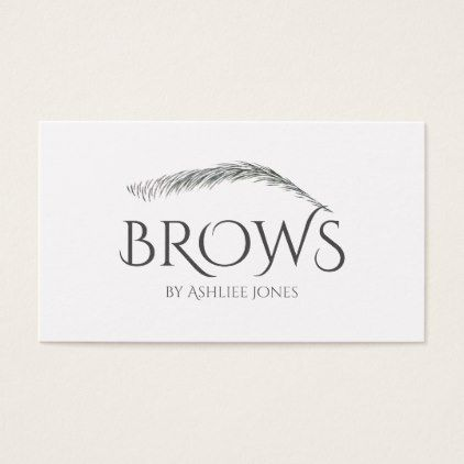 Microblading Eyebrows Tattoo Permanent Makeup Business Card