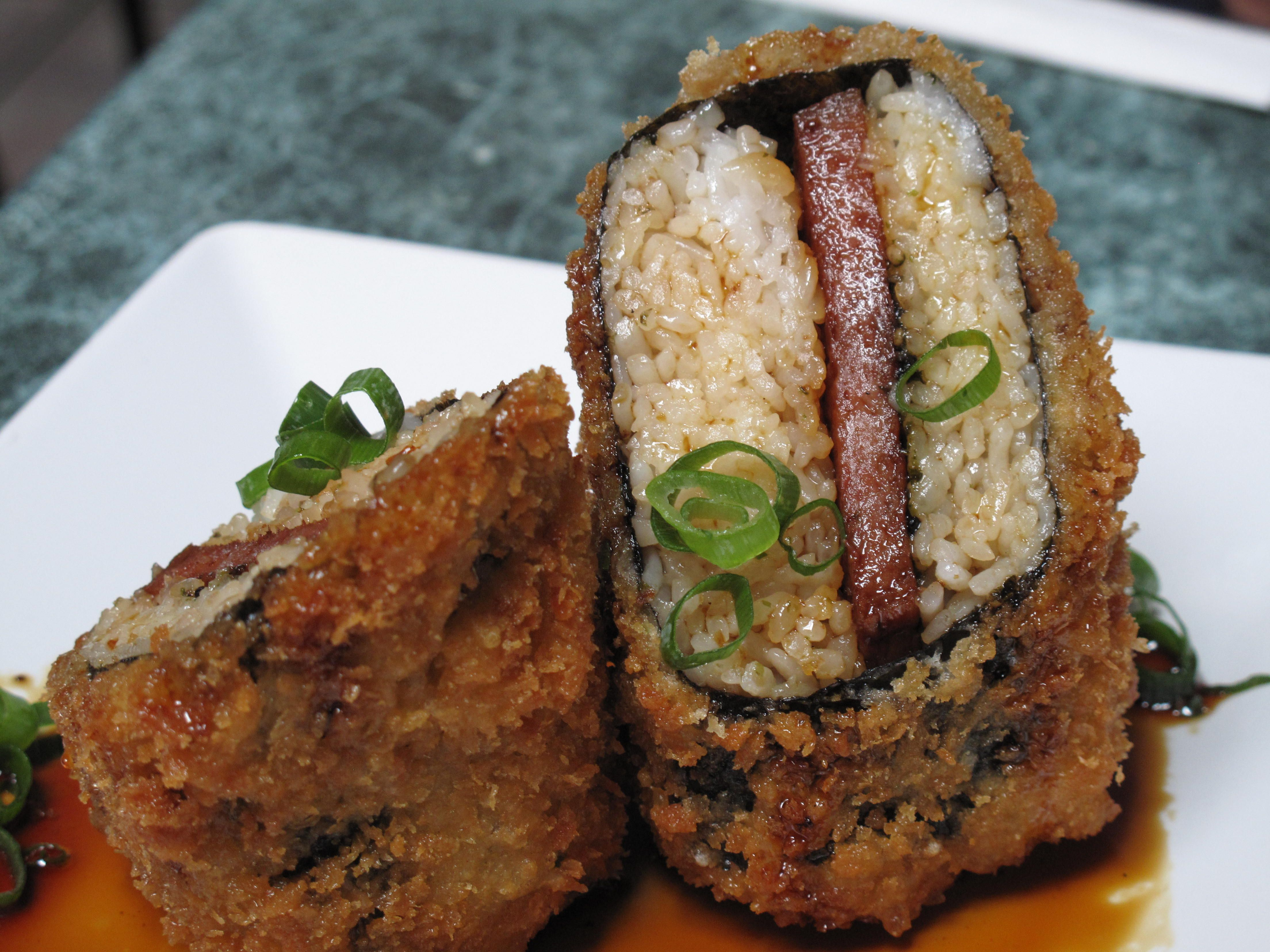 spam Panko musubi fried