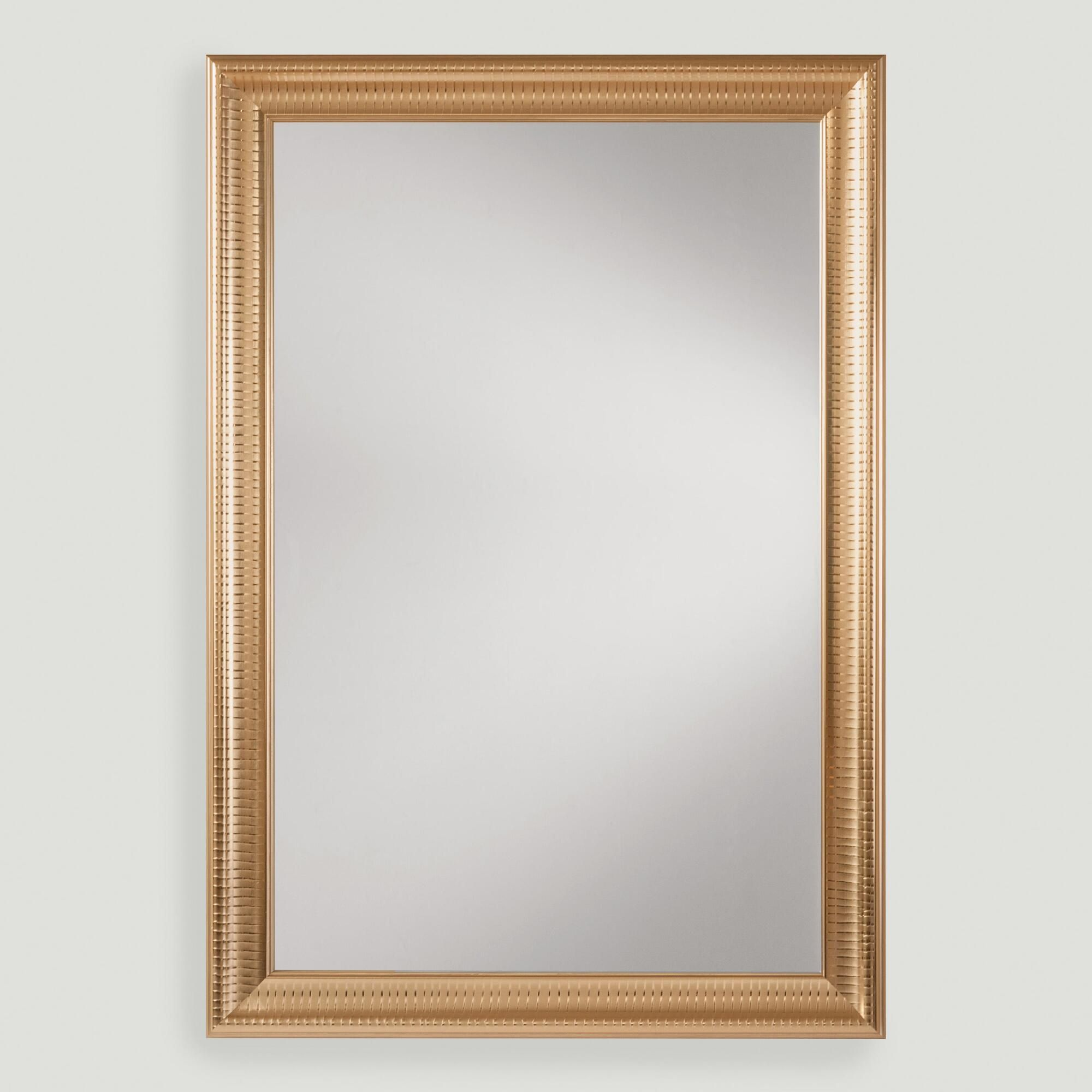 Gold Metal Framed Rectangular Mirror Framed Mirror Wall Gold Mirror Wall Mirror Wall