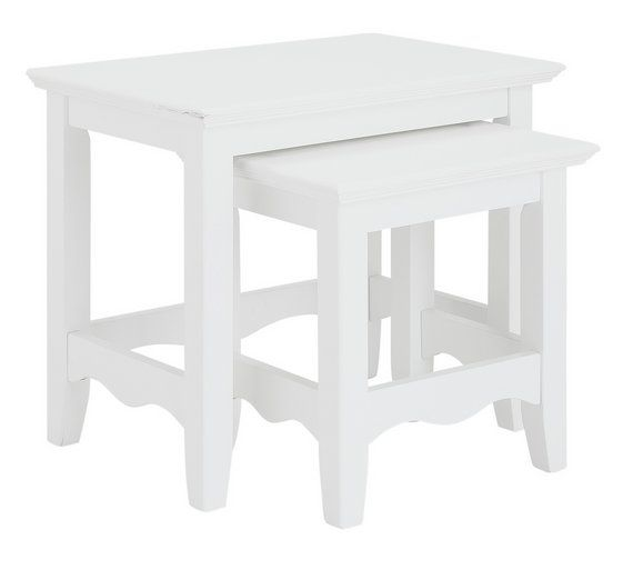 Argos Childrens Table And Chairs White: Buy Collection Romantic Nest Of 2 Tables
