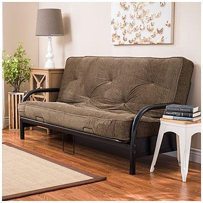 black futon frame with check plush futon mattress set   big lots   spare room black futon frame with check plush futon mattress set   big lots      rh   pinterest