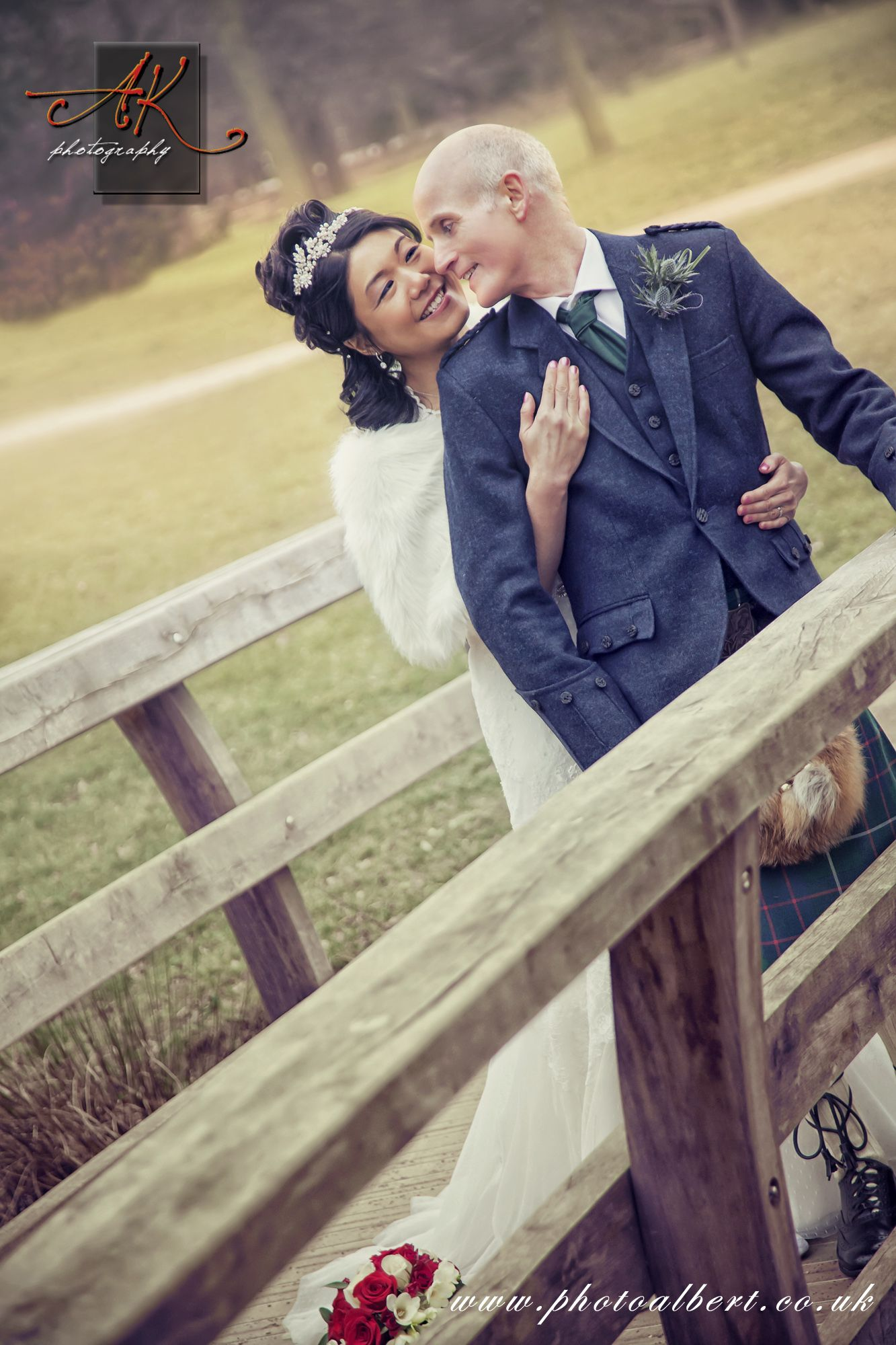 Bride And Groom Wedding Photo Shoot At Walpole Park In Ealing By Photographer London