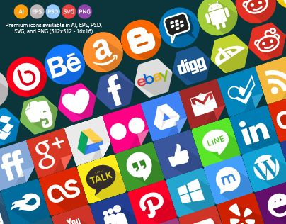 240 Social Icons Set Save Your Time Your Money And Free Update Available In Ai Eps Psd Svg And Png 512x512 16x16 Everythin Social Icons Icon Set Icon