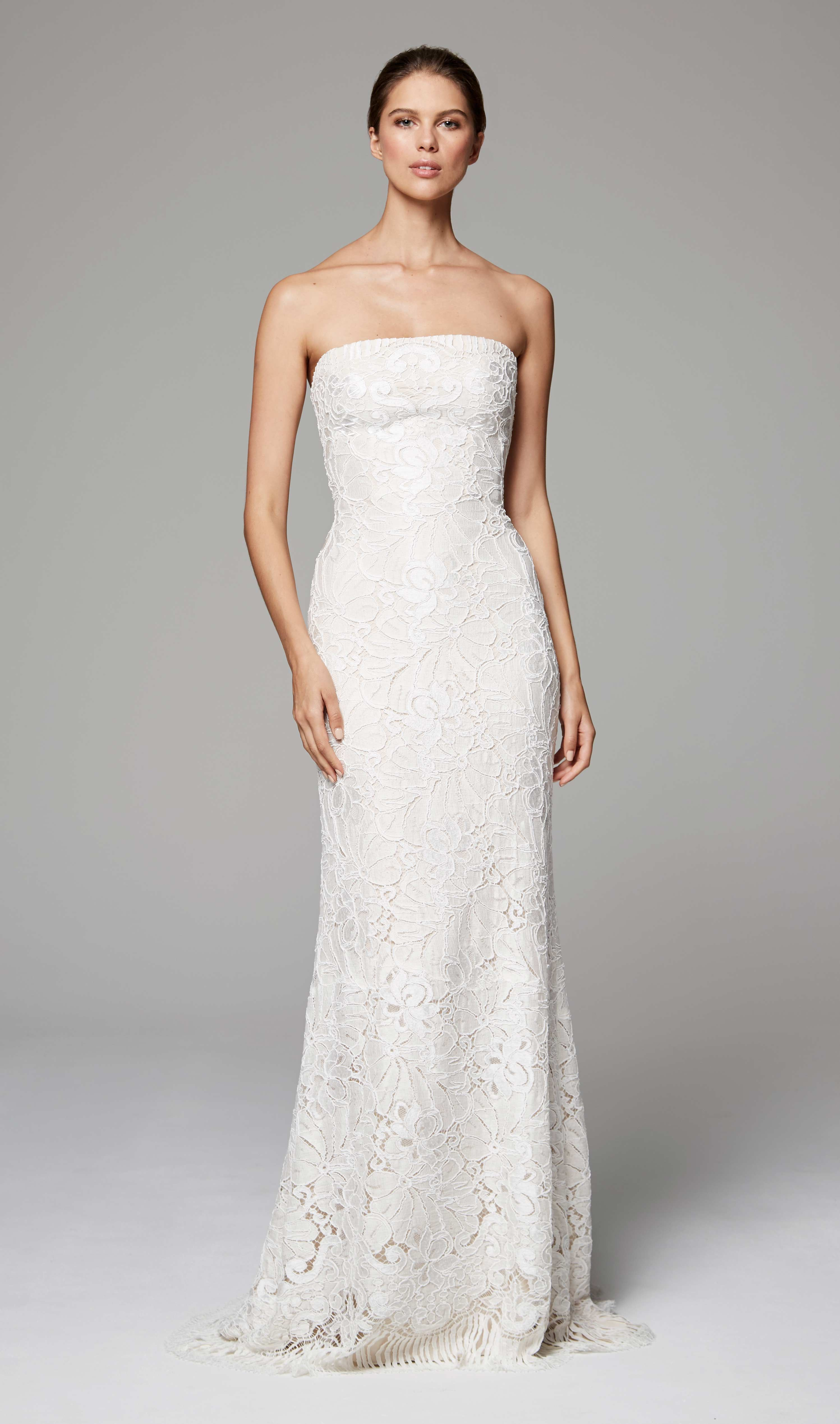 Philippa Anne Barge Fall 2018 Strapless Column Wedding Gown Of