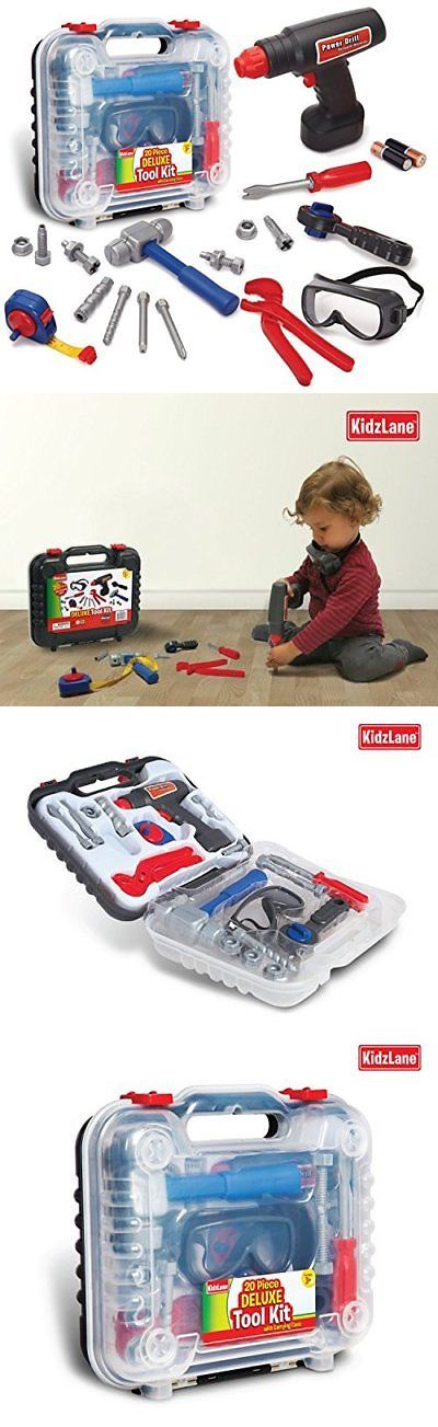 904cc59a76dc Tool Sets 158747  Durable Kids Tool Set With Electronic Cordless Drill And  18 Pretend Play With A -  BUY IT NOW ONLY   29.79 on  eBay  durable   electronic ...