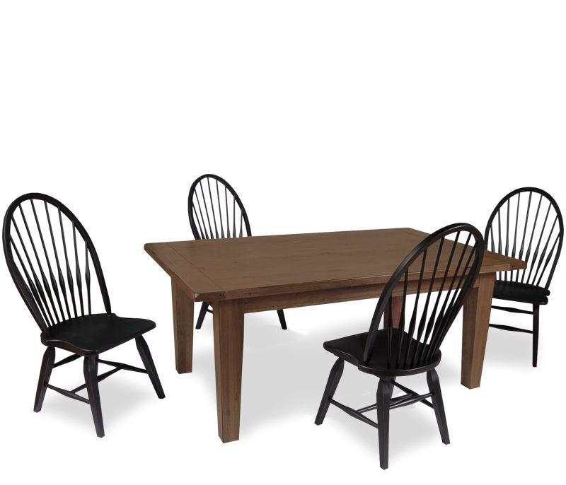 Prime Boston Interiors Rustic Dining Set Natural Oak The Short Links Chair Design For Home Short Linksinfo
