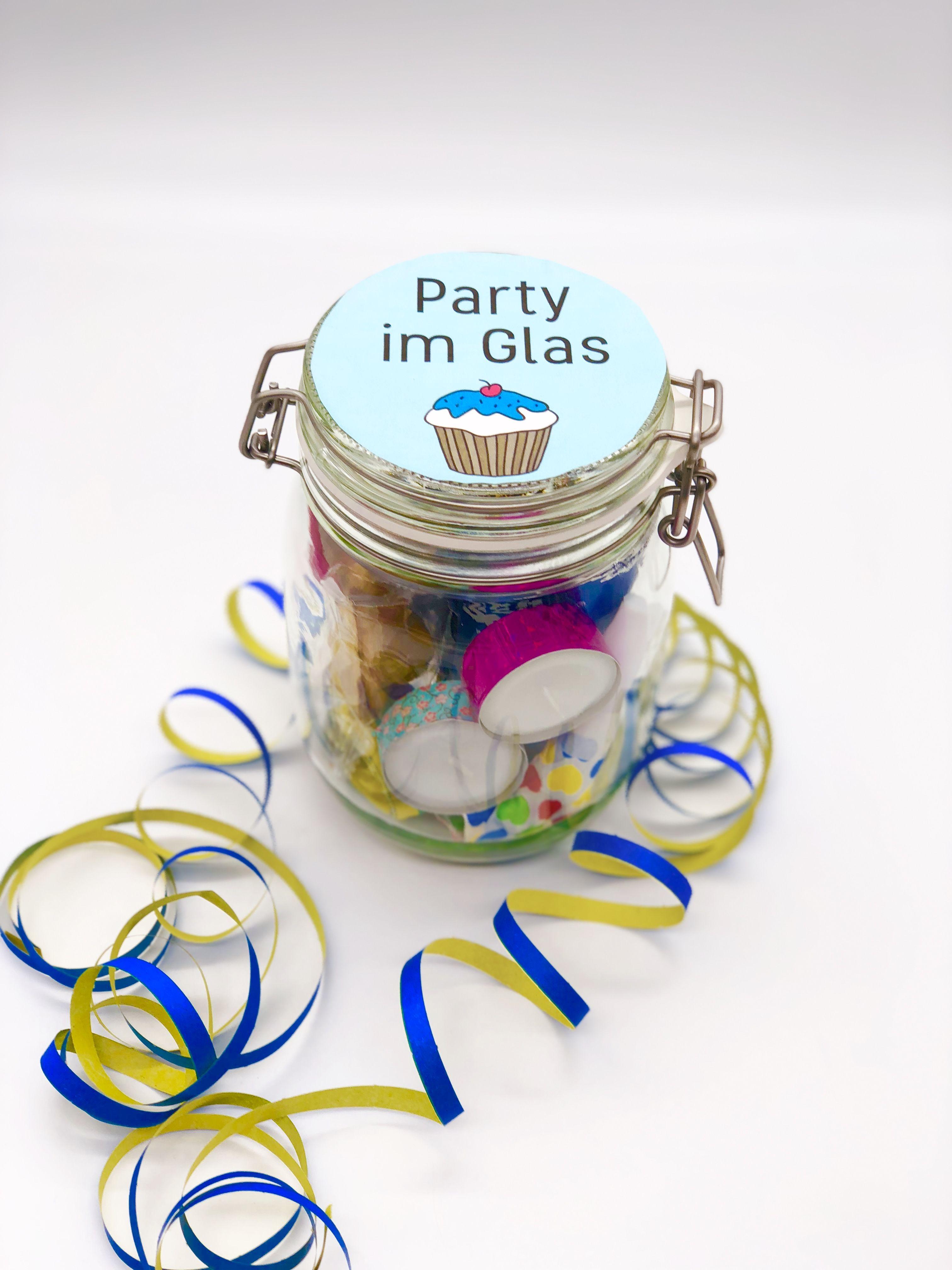 Süßes DIY Party Mitbringsel selber machen DIY Geschenke verpacken im Glas ideales Mitbringsel oder Gast Geschenk zum Geburtstag Geschenk für ihn oder