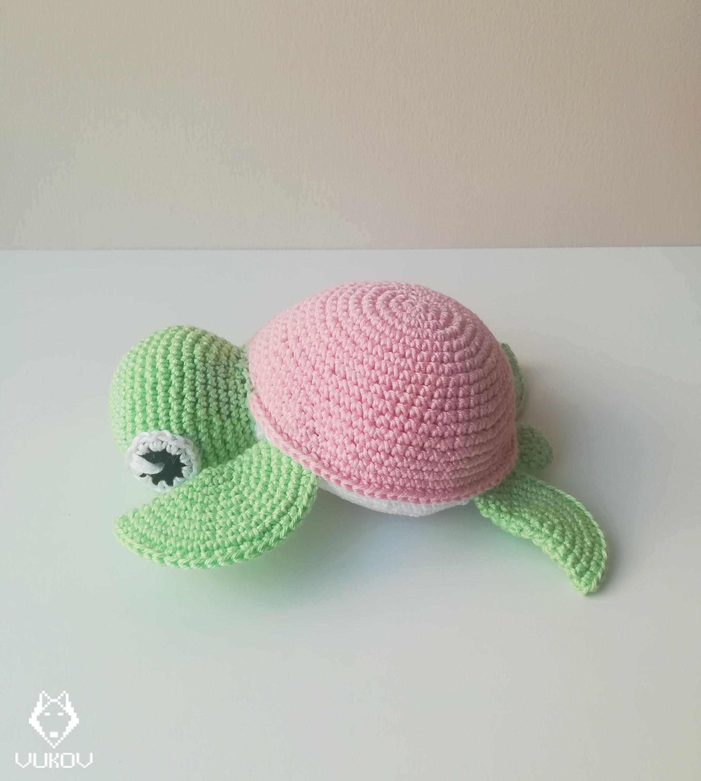 Crochet turtle, amigurumi turtle, sea turtle, stuffed toy, nursery decor, babysh…