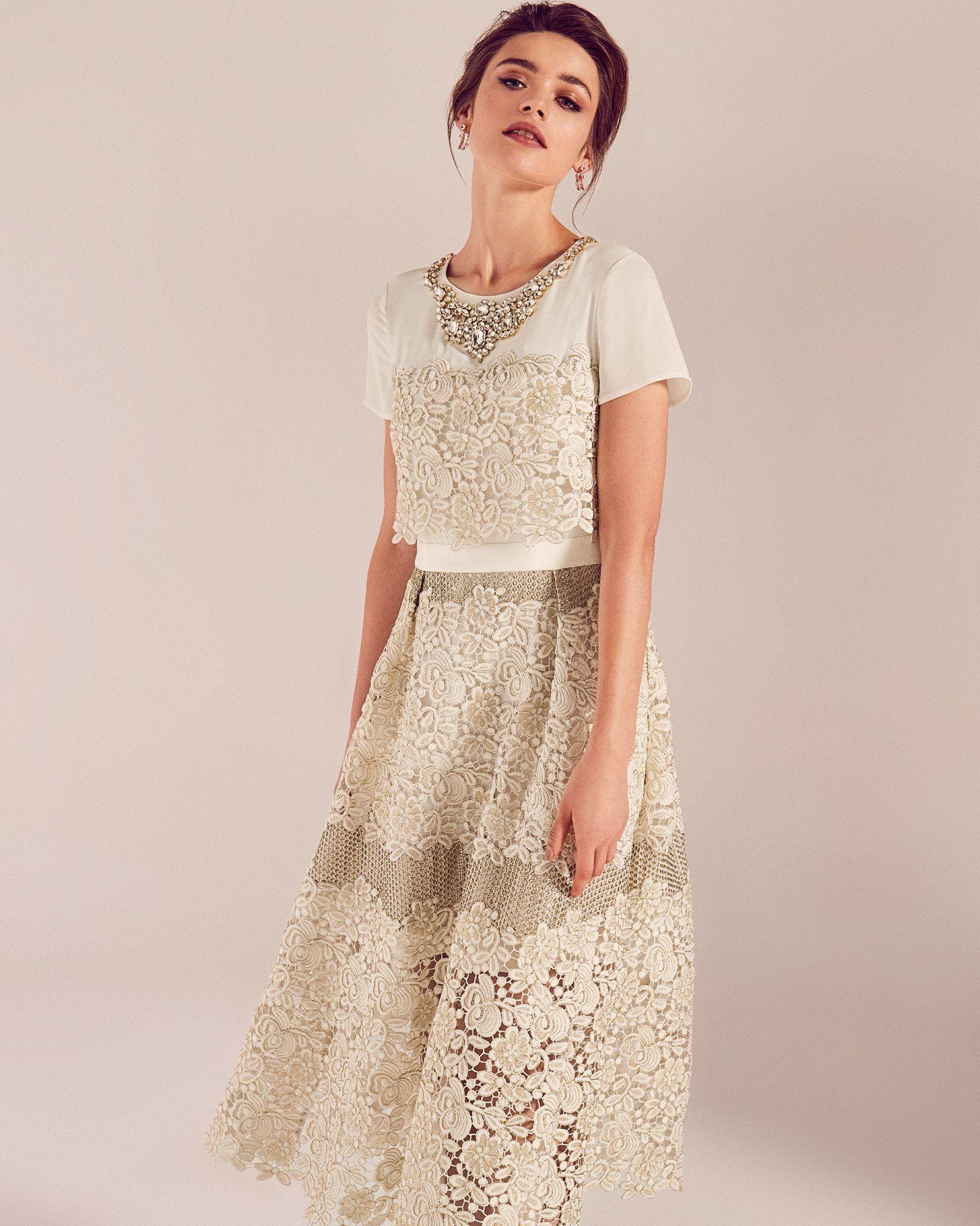 297ca77c9278 Embellished lace wedding dress - Cream