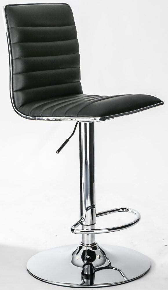 Alphason Colby Black Faux Leather Bar Stool Barstool Dimensions