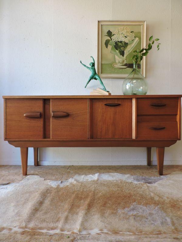 Vente Enfilade Teck Miel Annees 60 Achat Prix Mobilier De Salon Decoration Vintage Meuble Vintage