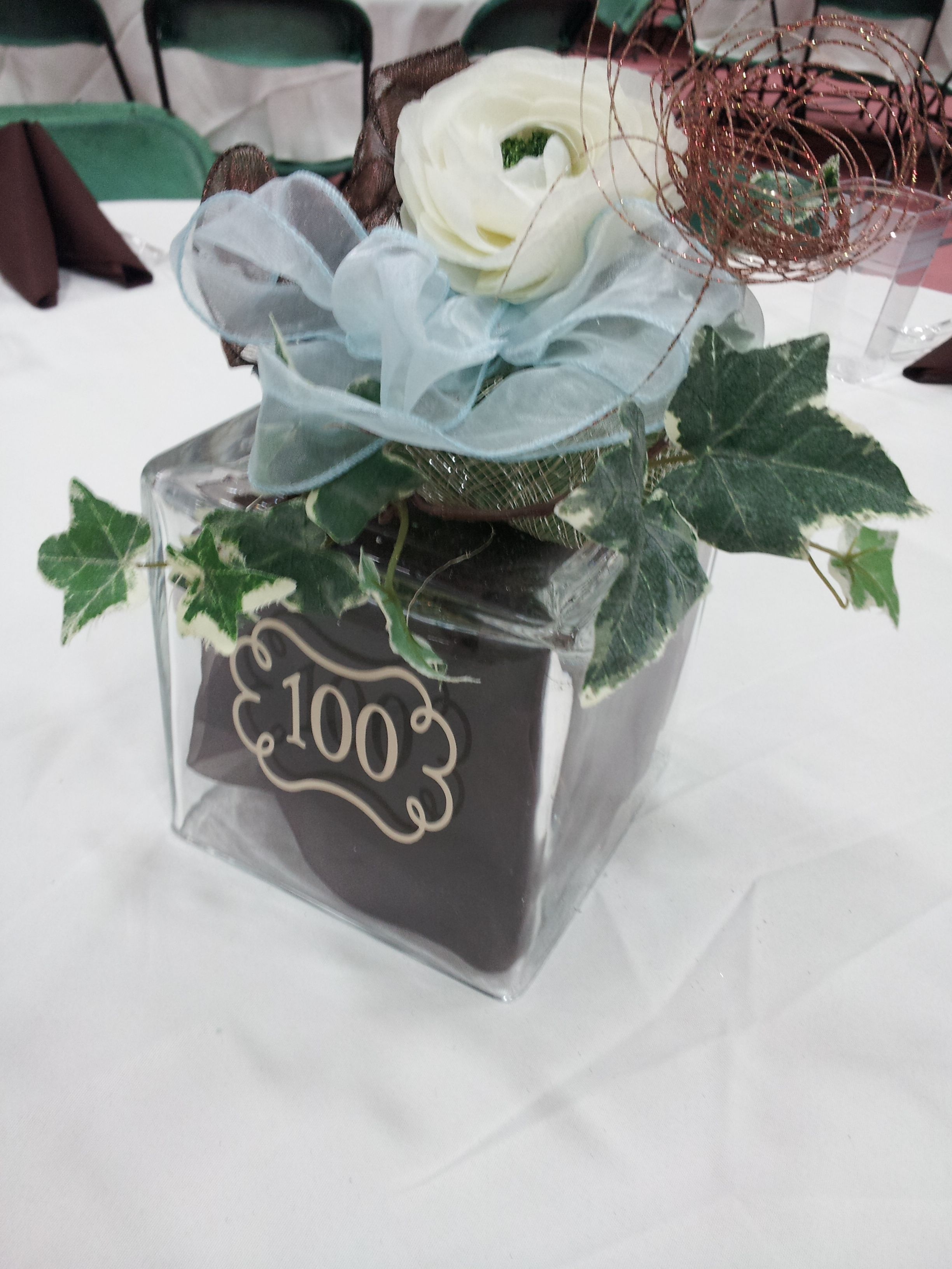 Did This For My Great Grandmother S 100th Birthday A Little Old School But Hey She S 100 Years O 100th Birthday Party Milestone Birthday Party 100th Birthday