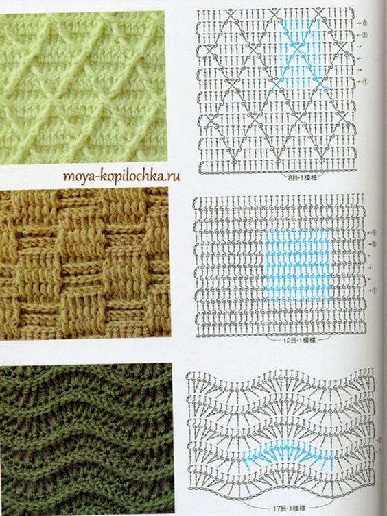 Colección de patrones y motivos, los de punto: | Tips | Pinterest ...