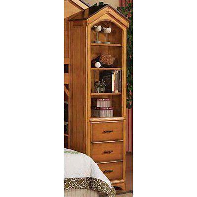 Acme Furniture 10163 Tree House Book Shelf Cabinet, Rustic Oak Finish NEW # AcmeFurniture