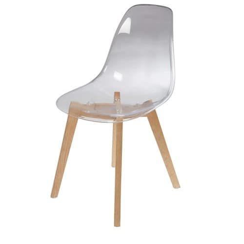 Skandinavischer Stuhl, Transparente Ice