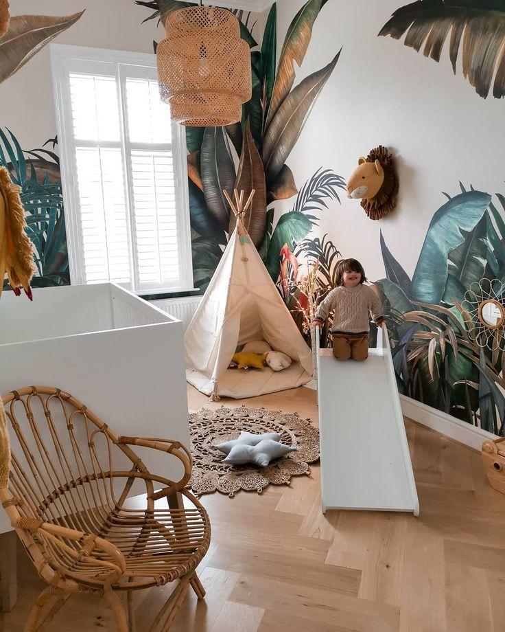 Tropische Wandverkleidung im Kinderzimmer wunderschön aufgenommen von Sally Fazeli -  Tropische Wandverkleidung im Kinderzimmer wunderschön aufgenommen von Sally Fazeli #aufgenommen #f - #aufgenommen #decorationdiy #diyDreamhouse #diyhomepictures #diykidroomideas #fazeli #kinderzimmer #sally #simplehomediy #tropische #von #wandverkleidung #wunderschon