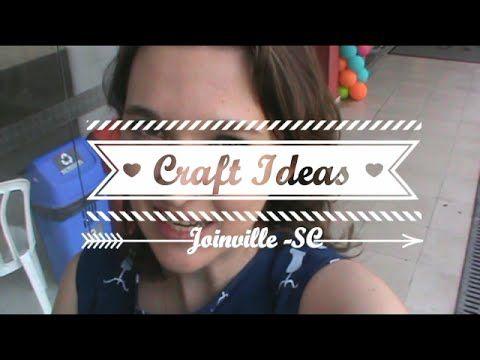 Bazar Craft Ideas em Joinville - SC. Vlog #1