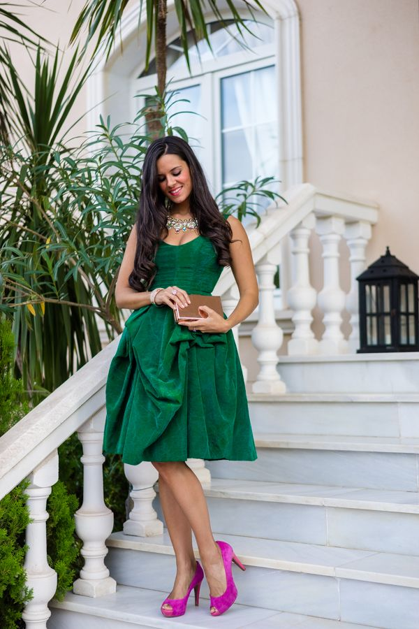 76ef3bafe5 Nihil Obstat Emerald Dress vestido verde esmeralda look de invitada boda de  tarde octubre Crimenes de la Moda