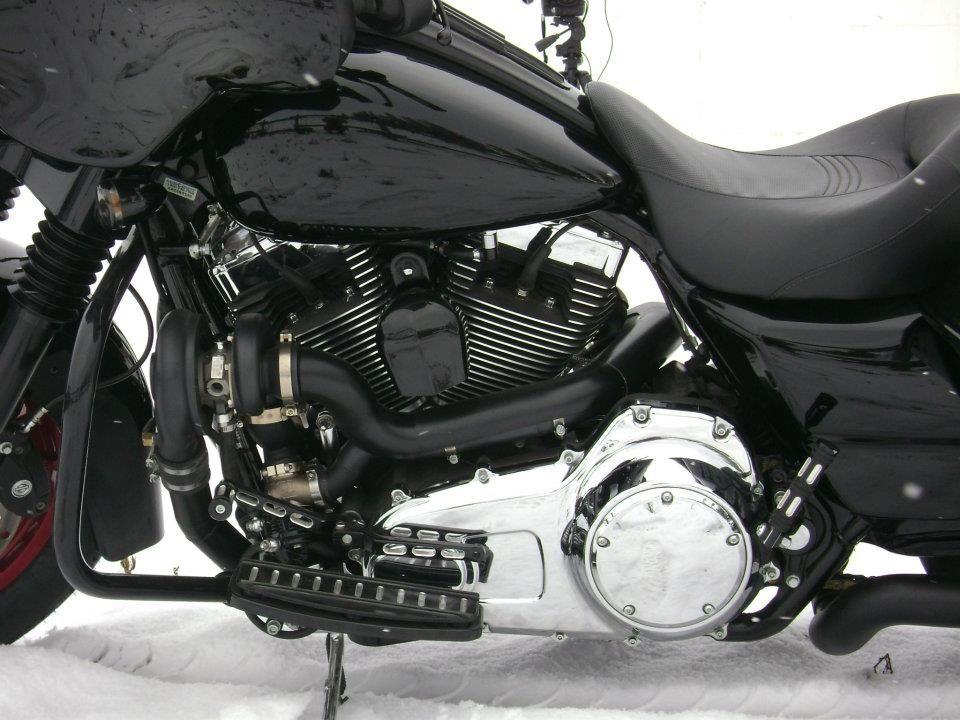 RCC Turbo kit on Harley Street Glide, turbo and waste gate