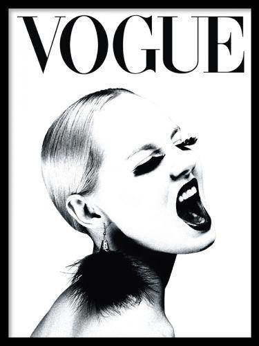 Affisch med vogue omslag i svartvitt 30x40 cm 129 kr desenio
