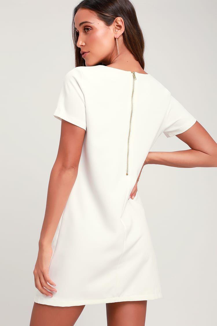 21++ Ivory shift dress ideas